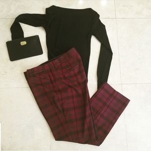 Express Plaid Red Pants